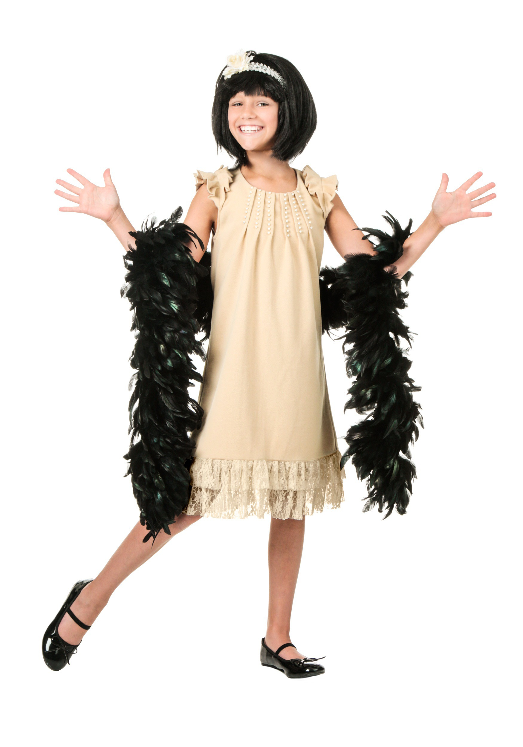 40a2594b6cdee Child Pearl and Lace Flapper Costume