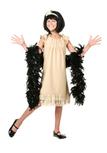Click Here to buy Kids Pearl and Lace Flapper Costume from HalloweenCostumes, USA Funds & Shipping