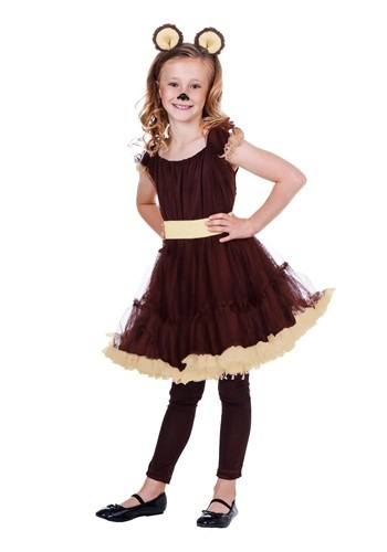 Child Girls Bear Costume