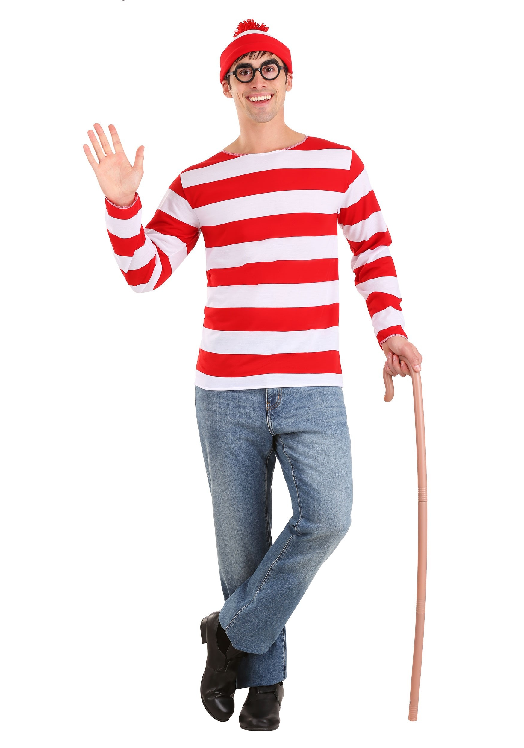 Whereu0027s Waldo Costume  sc 1 st  Halloween Costumes : cheap halloween costume for men  - Germanpascual.Com