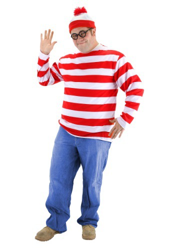 Plus Size Wheres Waldo Costume By: Elope for the 2015 Costume season.