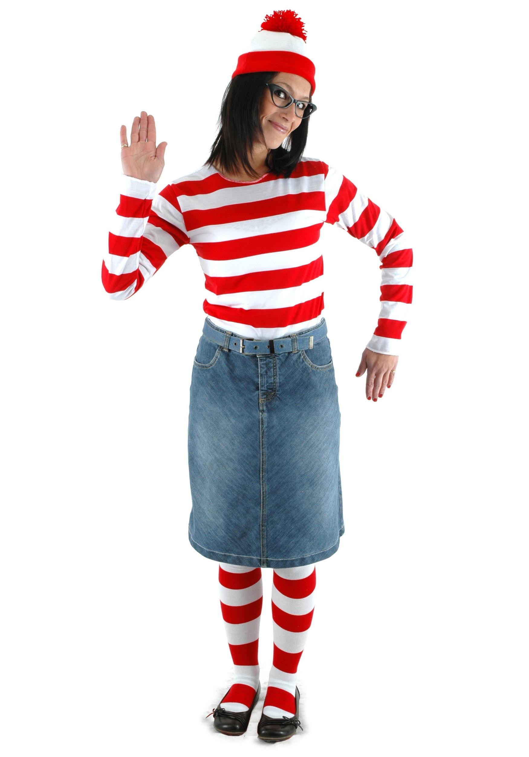 Wheres waldo costumes adult kids wheres waldo halloween costumes adult wenda costume solutioingenieria Gallery