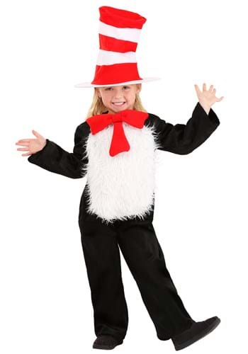 Click Here to buy Deluxe Toddler Cat in the Hat Costume from HalloweenCostumes, CDN Funds