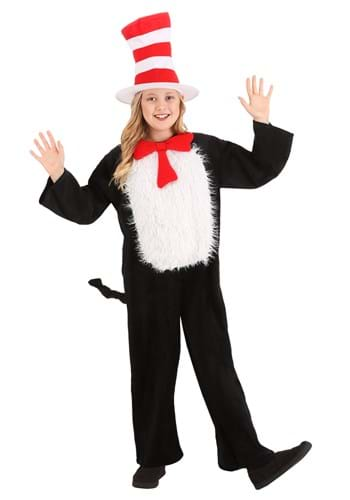 Click Here to buy Deluxe Kids Cat in the Hat Costume from HalloweenCostumes, CDN Funds