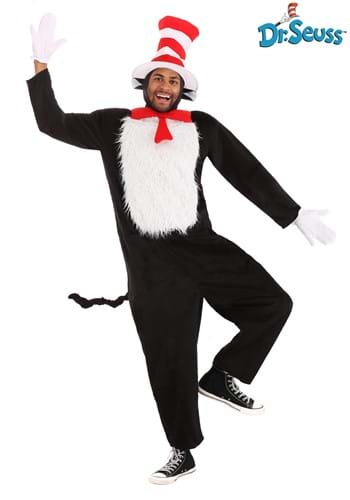 Click Here to buy Deluxe Adult Cat in the Hat Costume from HalloweenCostumes, CDN Funds
