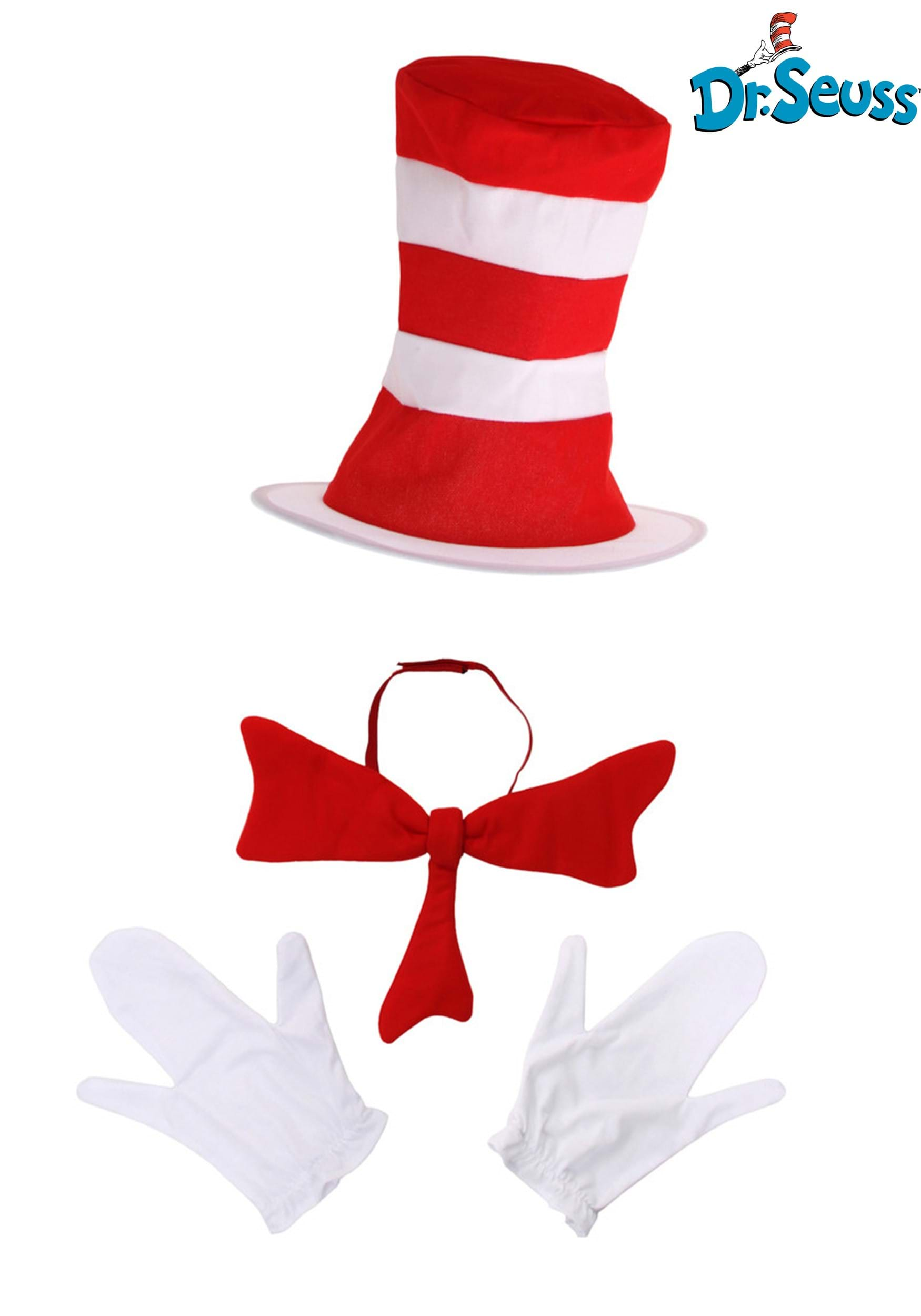 2877ebd36f3 Adult Cat in the Hat Accessory Costume Kit