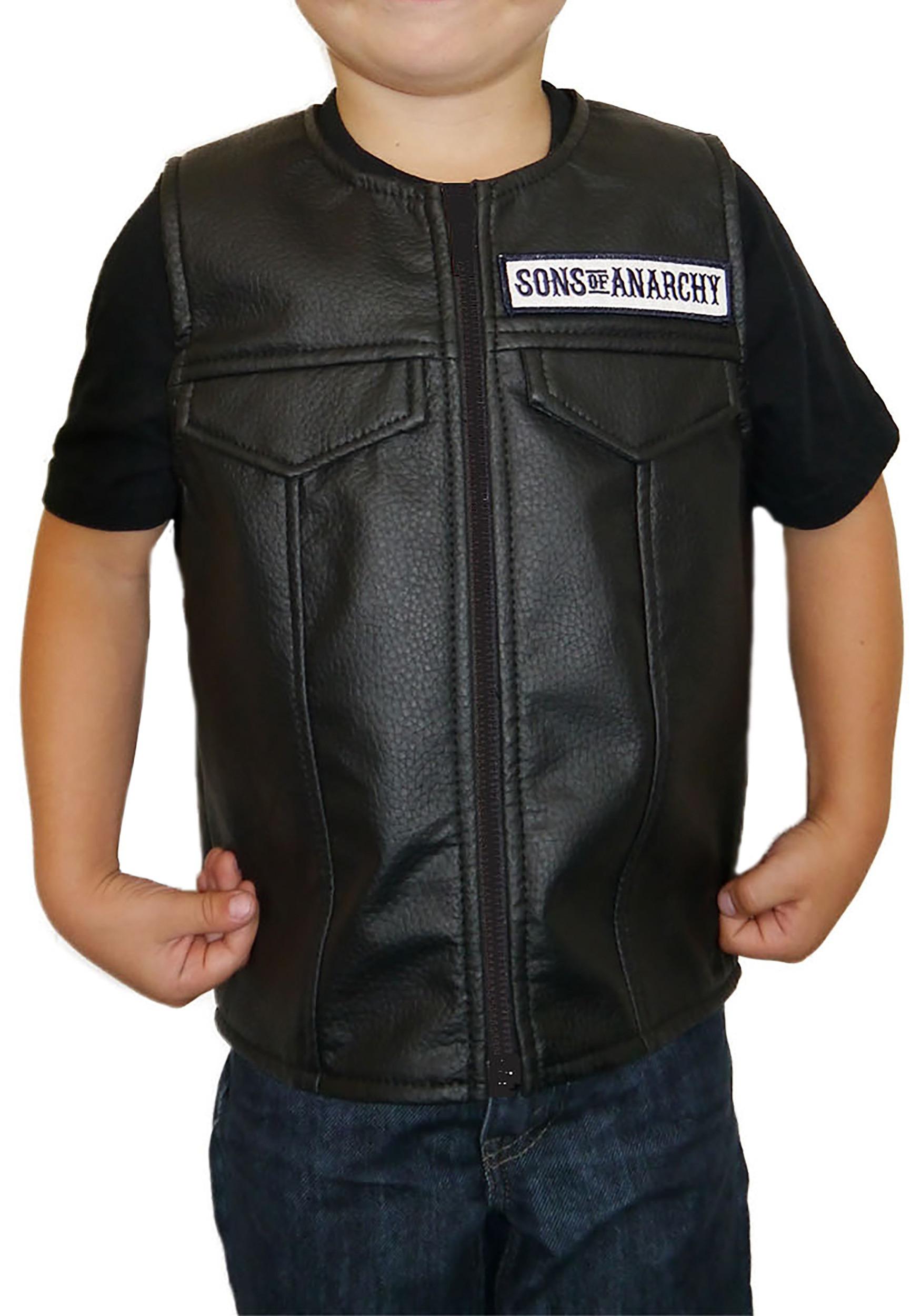 Child Sons of Anarchy Costume Vest PCKSOAFLV