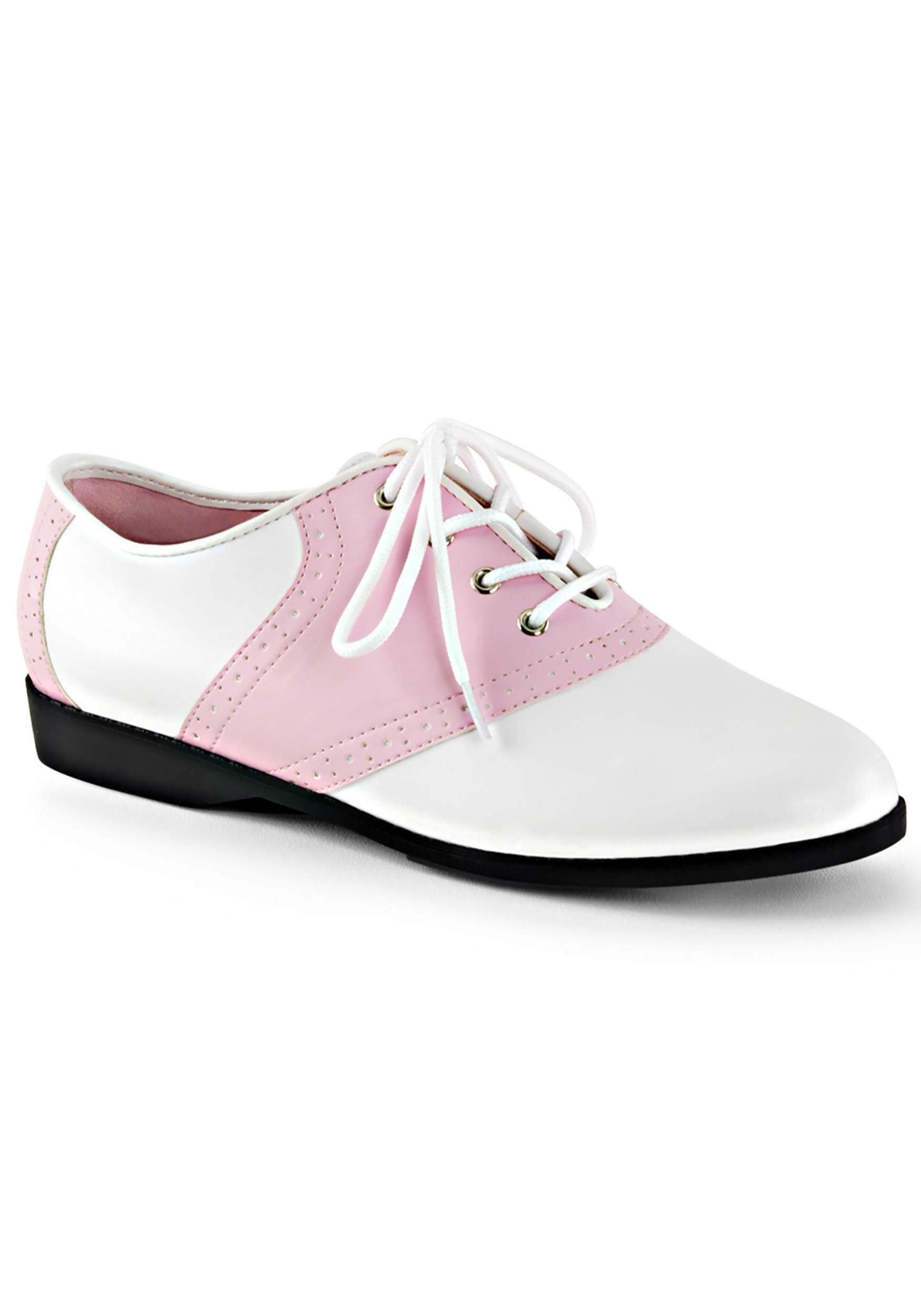 1950s Girl Shoes Womens Pink Saddle Shoes