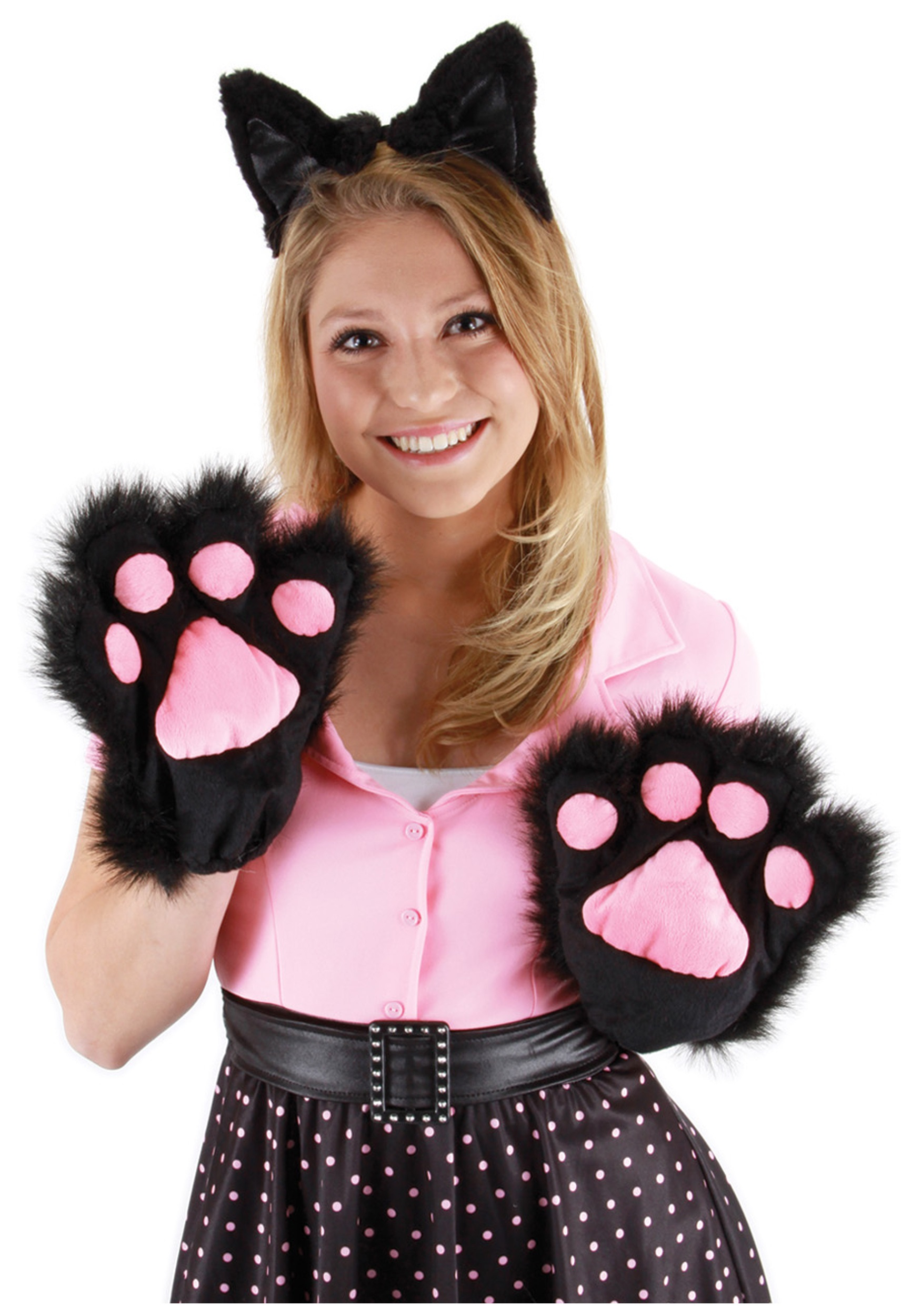 sc 1 st  Halloween Costumes & Black Kitty Paws