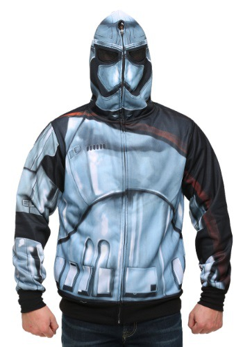 Image of Men's Star Wars Episode 7 Captain Phasma Costume Hoodie