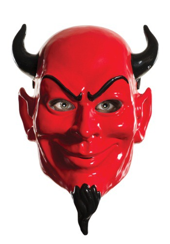 Click Here to buy Adult Scream Queens Vacuum Form Devil Mask from HalloweenCostumes, USA Funds & Shipping