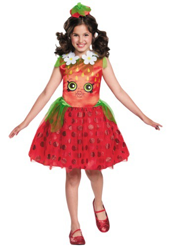 Click Here to buy Shopkins Strawberry Kiss Classic Girls Costume from HalloweenCostumes, USA Funds & Shipping