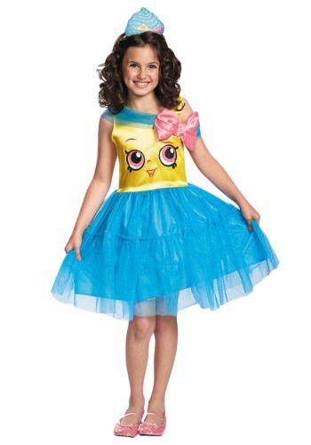 Click Here to buy Shopkins Cupcake Queen Classic Girls Costume from HalloweenCostumes, USA Funds & Shipping