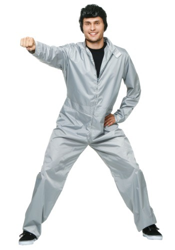 Click Here to buy Adult Greased Lightning Jumpsuit from HalloweenCostumes, CDN Funds