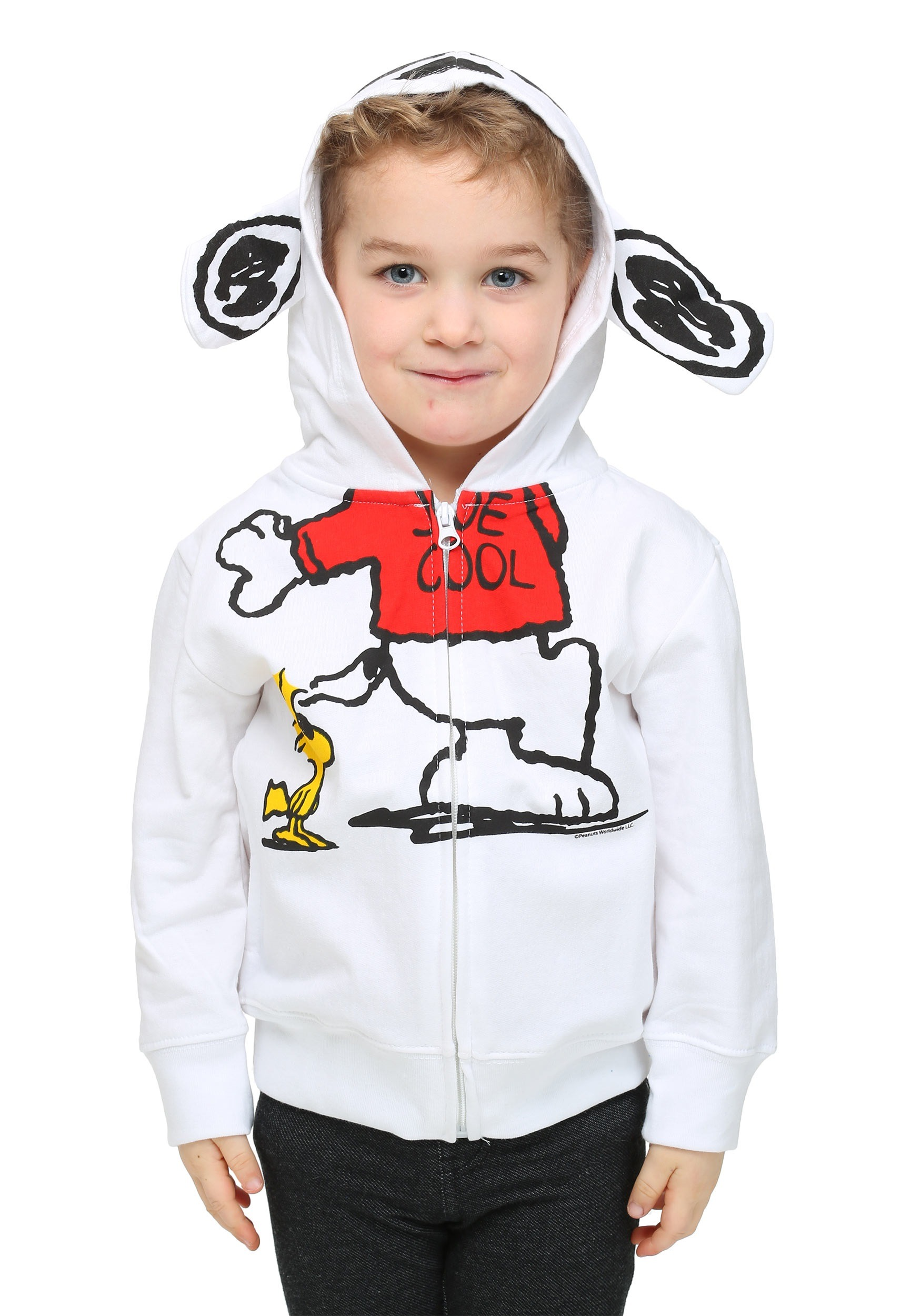f5d0a97e8 Peanuts Joe Cool Toddler Boys Costume Zip Up Hoodie Sc 1 St Halloween  Costumes. image number 1 of snoopy ...