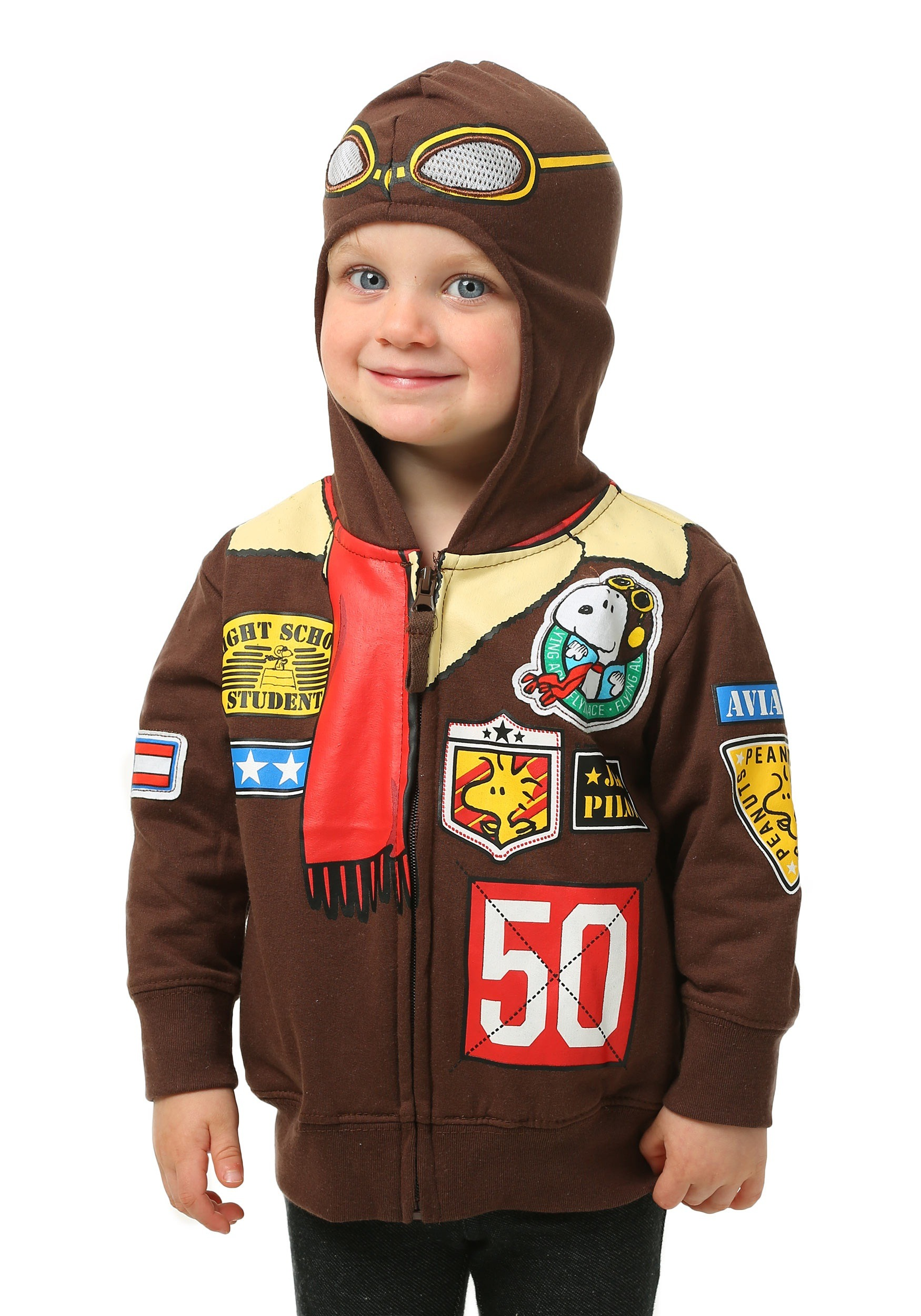 Peanuts Snoopy Toddler Boys Bomber Jacket Hooded Sweatshirt Costume