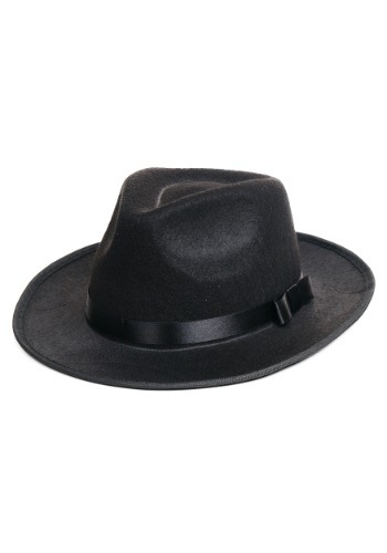 Black Gangster Hat