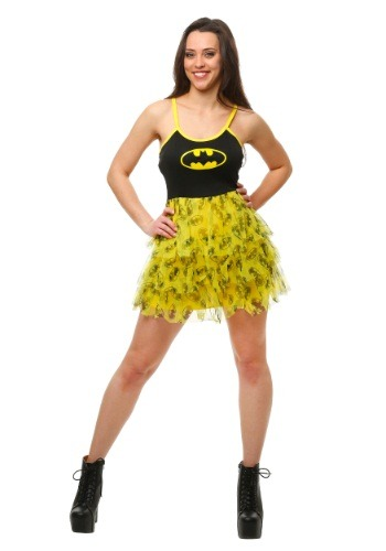 Click Here to buy Batman Mini Skirt Dress from HalloweenCostumes, CDN Funds