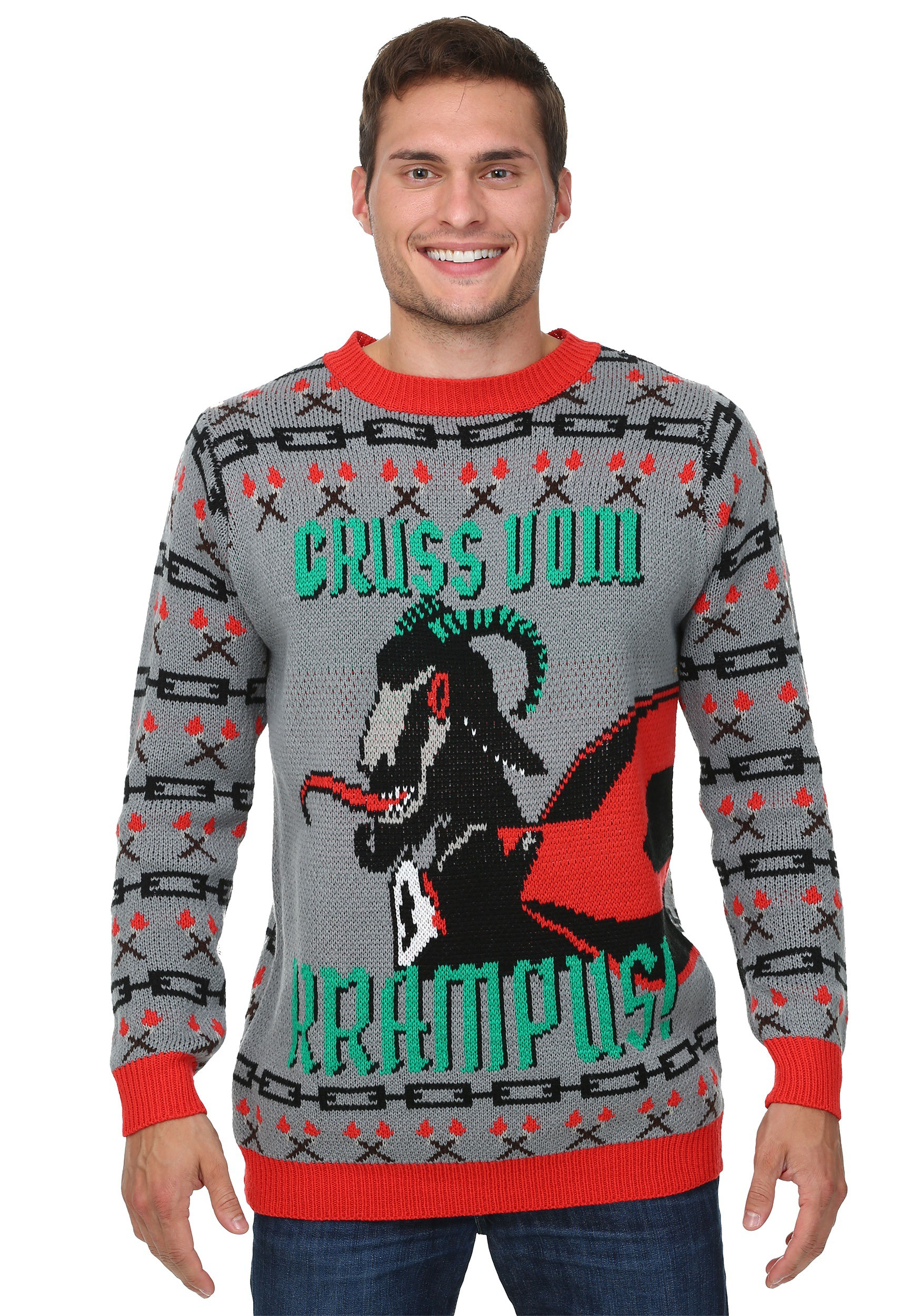 krampus christmas sweater - How To Decorate A Ugly Christmas Sweater