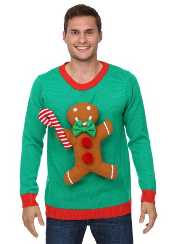Low Price 3D Gingerbread Man Christmas Sweater 2017