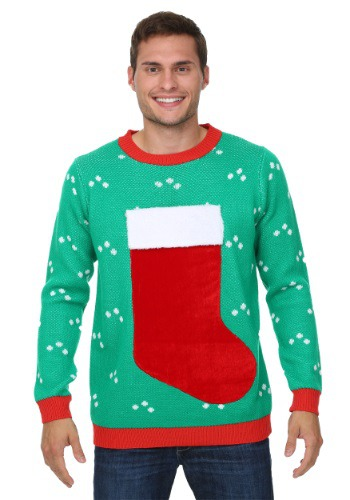 Cheapest 3D Christmas Stocking Sweater sale