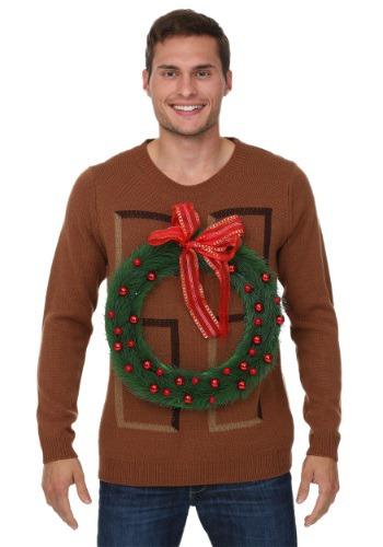 Christmas Wreath Door Ugly Christmas Sweater