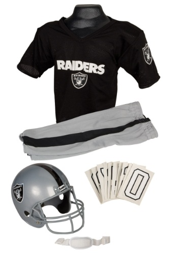 NFL Raiders Uniform Costume - Oakland Raiders Uniform and Helmet Set