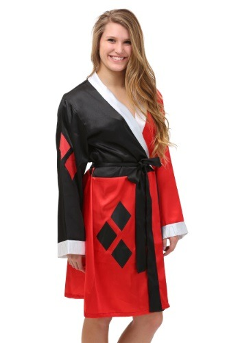 Image of Harley Quinn Satin Bathrobe