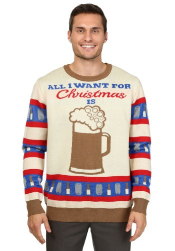 Image of All I Want for Christmas is Beer Ugly Christmas Sweater