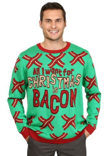 Image of All I Want for Christmas is Bacon Ugly Christmas Sweater