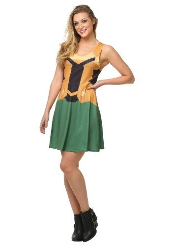 Click Here to buy Marvel Loki A-Line Dress from HalloweenCostumes, USA Funds & Shipping