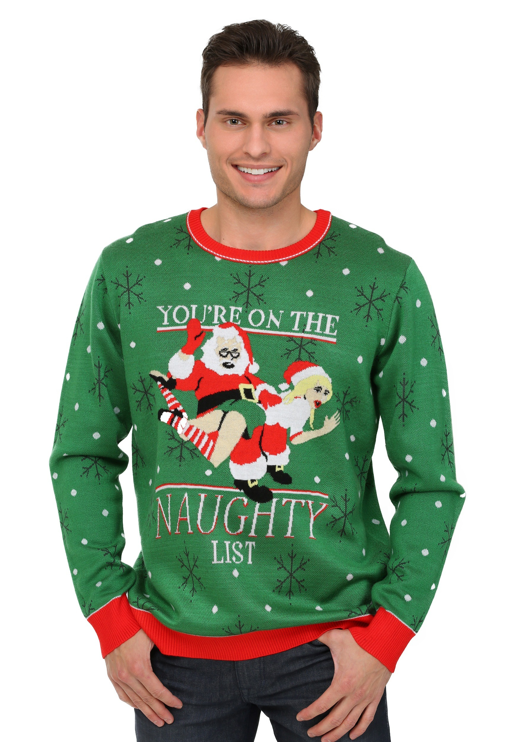 mens youre on the naughty list christmas sweater - Shark Christmas Sweater