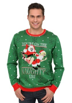 Men's You're On The Naughty List Christmas Sweater