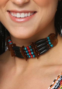 Black Beaded Native Choker