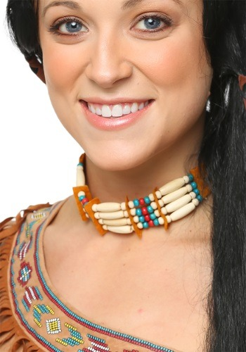 Image of Tan Beaded Native Choker