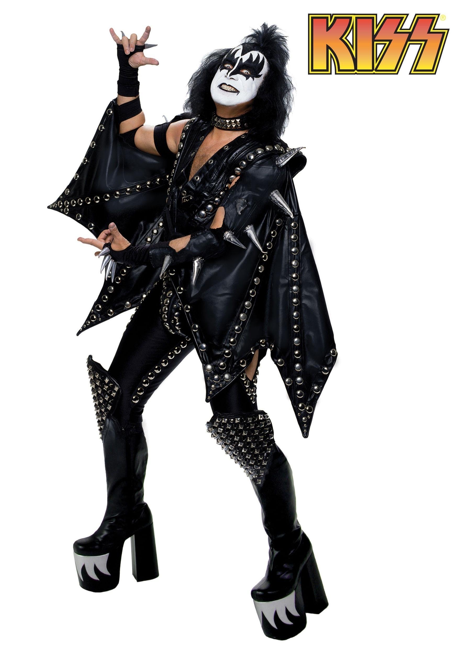 Kiss Costumes - KISS Band Halloween Costume Paul, Gene Simmons Boots