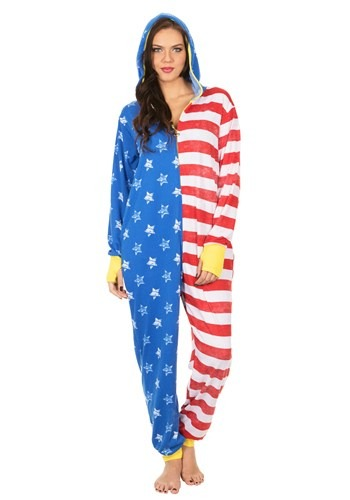 Women's American Flag Wonder Woman Lounger