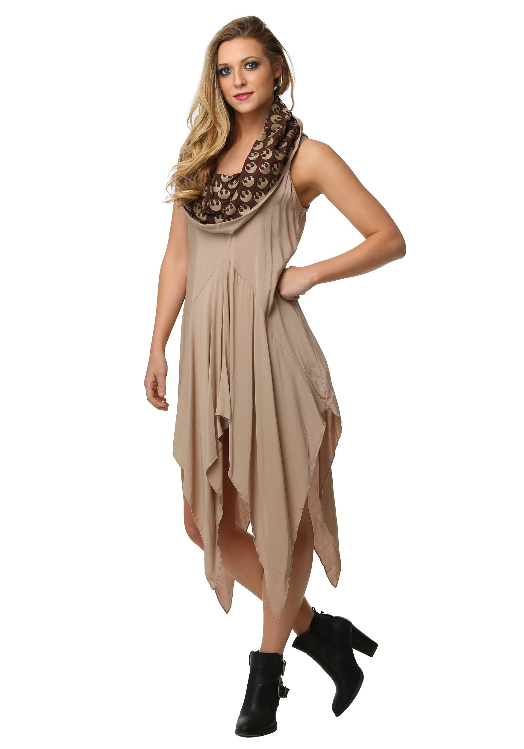 Womens Star Wars Rey Hooded Dress
