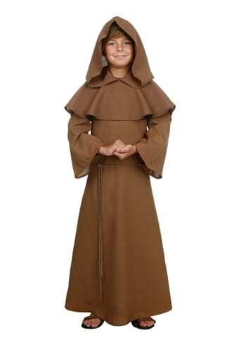 Child Brown Monk Robe Costume