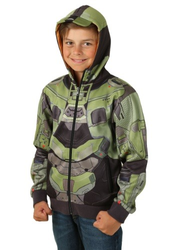 Child Halo Master Chief Mjolnir Hoodie