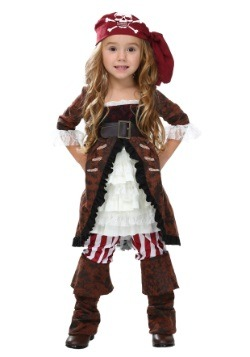 Toddler Brown Coat Pirate Costume
