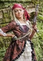 Girl's Brown Coat Pirate Costume Alt 4