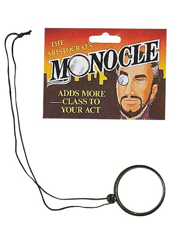 Click Here to buy Monocle - Steampunk Costume Accessory from HalloweenCostumes, CDN Funds
