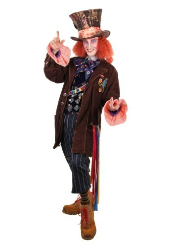 [Alice in Wonderland Authentic Mad Hatter Costume] (Mad Hatter Alice Costumes)
