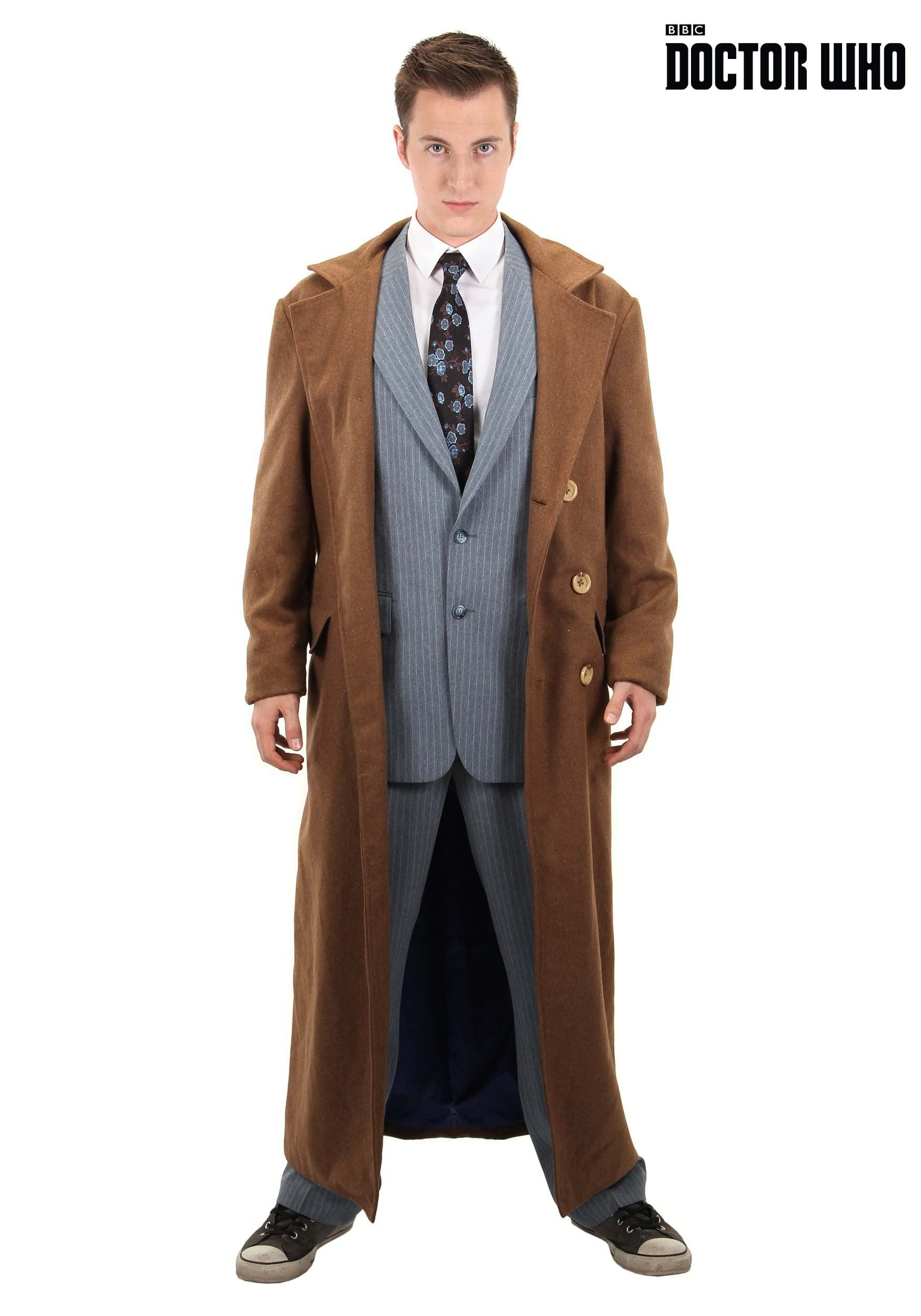 DOCTOR WHO 10TH DOCTOR COAT costume cosplay Halloween