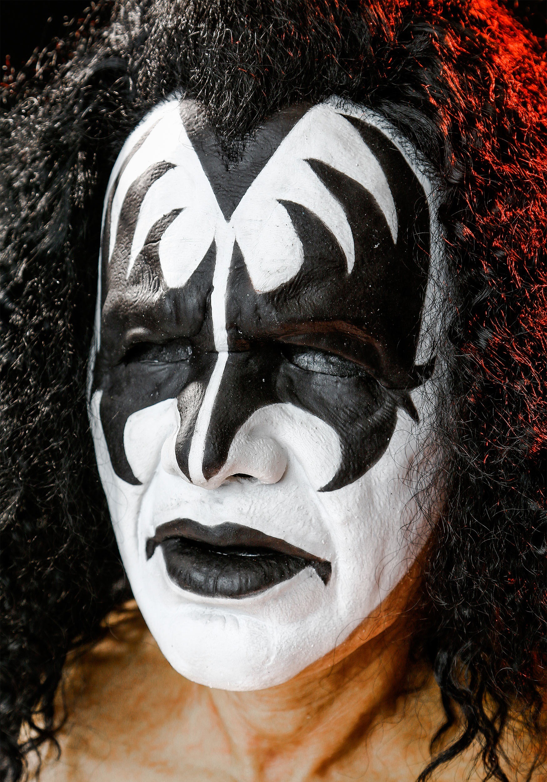 Kiss gene simmons face images for Kiss mask template