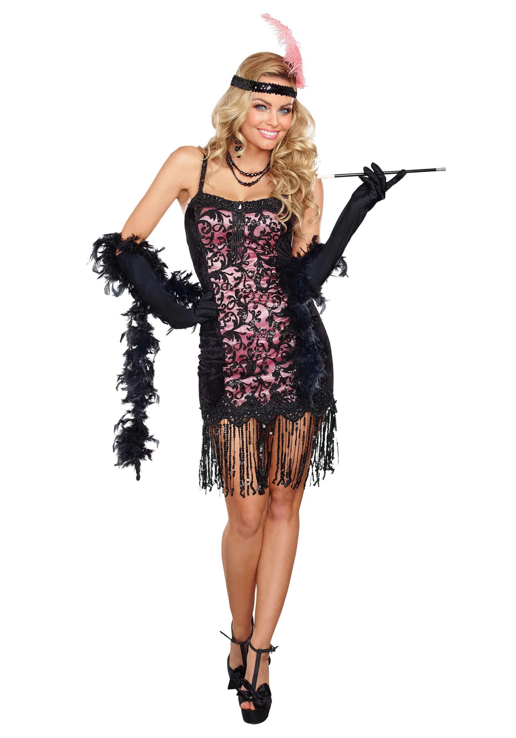 Womens Cotton Club Cutie  sc 1 st  Halloween Costumes & Womens Flashy Flapper Costume