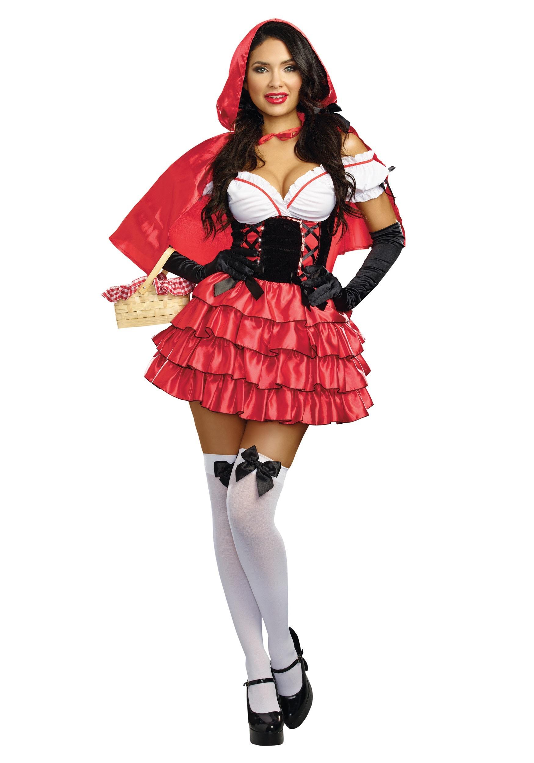 Women s Ruffled Red Riding Hood Costume 79043bda2f