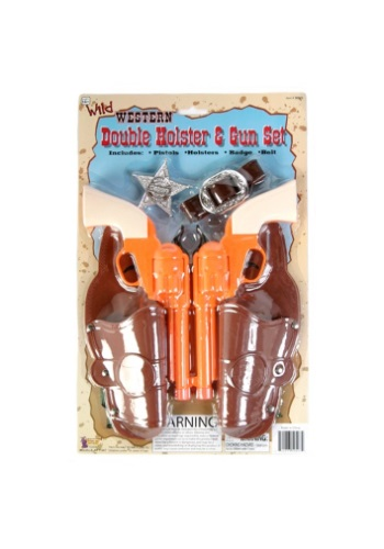 Western Double Holster and Gun Set