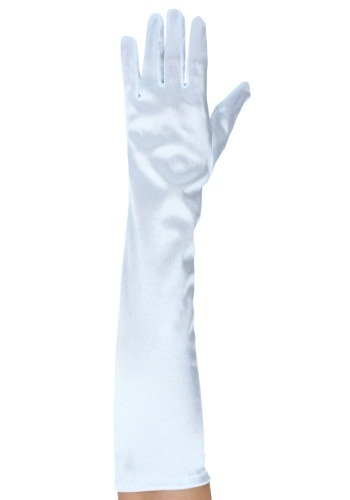 Roaring 20s Ladies White Gloves